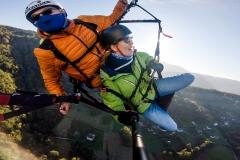 Lot w tandemie w Beskidach