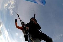 Lot w tandemie, okolice Kutna