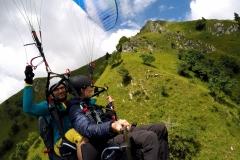 Lot w tandemie w Alpach